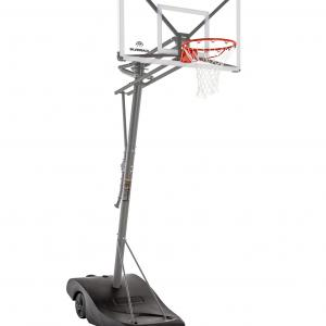 Silverback SBX 54″ Backboard Portable Height-Adjustable Basketball Hoop Assembles in 90 Minutes