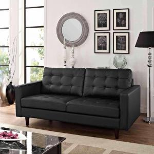 Modway Empress Bonded Leather Tufted Loveseat, Multiple Colors