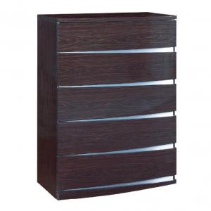 32″ Exquisite Wenge High Gloss Chest