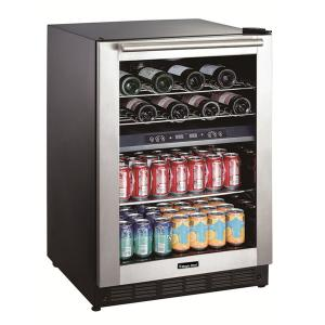 Magic Chef 24″ 16 Bottle and 77 Can Capacity Built-In or Free-Standing Wine and Beverage Cooler