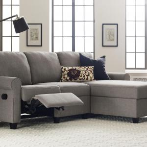 Serta Copenhagen Reclining Sectional with Right Storage Chaise – Gray