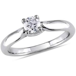 1/3 Carat T.W. Diamond 14kt White Gold Solitaire Engagement Ring
