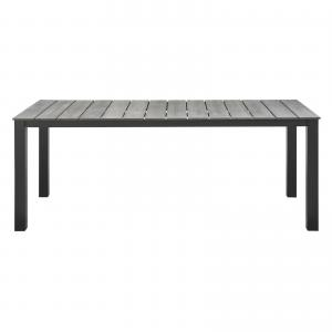 Modway Maine 80″ Outdoor Patio Dining Table, Multiple Colors
