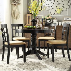 Lexington 5-Piece Round Dining Set with 4 Window Back Chairs