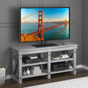 Ameriwood Home Wildwood TV Stand for TVs up to 65″, Rustic White