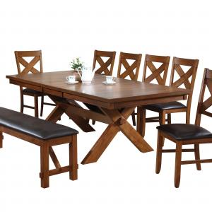 ACME Apollo Dining Table, Walnut (Chairs Separately)