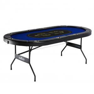 Barrington 10 Player Blue Poker Table, No Assembly Required