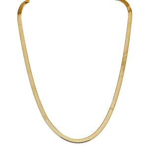 Primal Gold 14 Karat Yellow Gold 5.5mm Silky Herringbone Chain