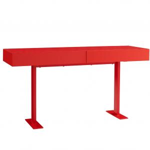 59″ X 18″ X 30″ Red Lacquer Console