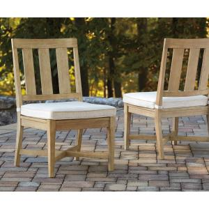 Signature Design by Ashley Clare View Outdoor Beige Chair with Cushion – Set of 2