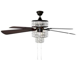 River of Goods 52″ Bella Crystal LED Ceiling Fan with Light