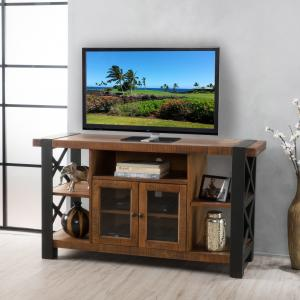 Noble House Nathan Modern Contemporary Wood Cabinet TV Stand, Natural