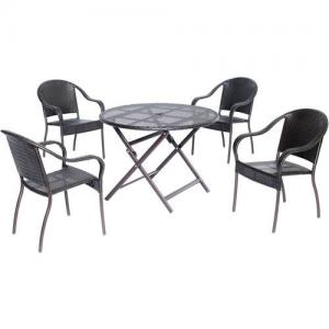 Hanover Outdoor Orleans 5-Piece Round Dining Set
