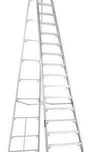 Louisville Ladder 20-Foot Aluminum Step Ladder, Type IA, 300-pound Load Capacity, AS1020