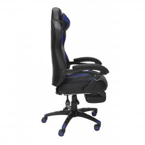 RESPAWN 110 Pro Racing Style Gaming Chair, Reclining Ergonomic Chair with Built-in Footrest, in Blue (RSP-110V2-WBLU)