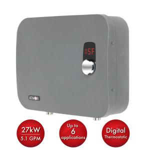 ThermoPro 27kW/240-Volt 5.1 GPM Stainless Steel Digital Tankless Electric Water Heater with Self-Modulating Technology