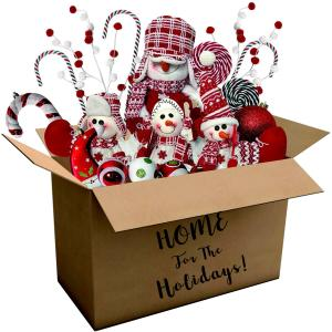 Fraser Hill Farm 225-piece Home for the Holidays Peppermint-Themed Ornament and Decoration Set