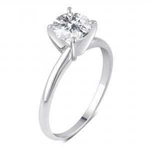 1 1/4 Carat T.W. Round Diamond 14kt White Gold Solitaire Engagement Ring, I-J/I3, Sz-6