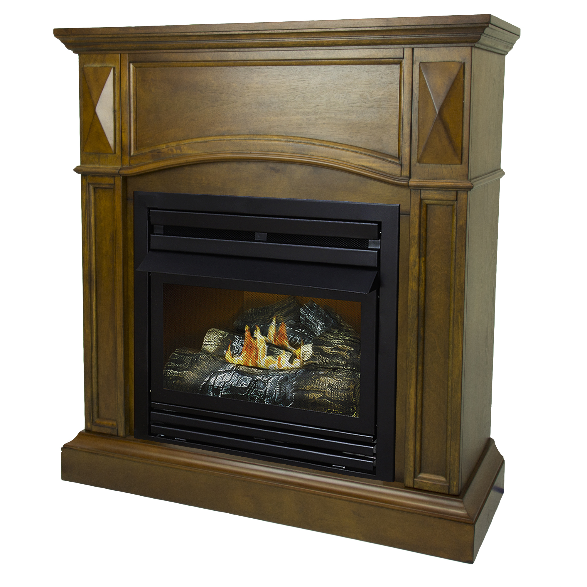 Pleasant Hearth 36 in. Liquid Propane Compact Heritage Vent Free Fireplace System 20,000 BTU