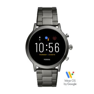 Fossil Gen 5 Carlyle HR Men's Smartwatch – Smoke Stainless Steel – Powered with Wear OS by Google