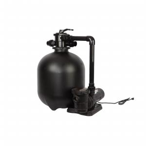 FlowXtreme Pro 22-in 300-lb Sand Filter System for Above-Ground Pools with 2 SP 1 HP Pump and Multiport Valve ? 5280 GPH Flow Rate