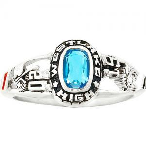 Personalized Women's Viva Fashion Class Ring available in Valadium Metals, Silver Plus, and Yellow and White Gold