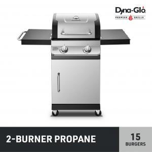 Dyna-Glo Premier 2 Burner Stainless Steel Propane Gas Grill Outdoor BBQ