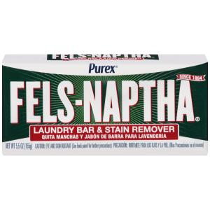 Purex Fels-Naptha Laundry Bar & Stain Remover & Pre-treater, 5.5 Ounce