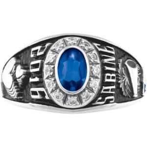 Personalized Women's Oval Premiere Class Ring available in Valadium Metals, Silver Plus, 10kt and 14kt Yellow and White Gold