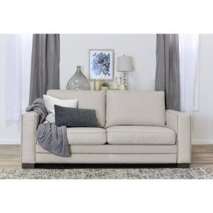 Serta Mason 81″ Sofa in Ivory Bonded Leather