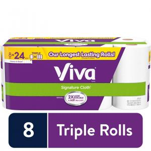 Viva Signature Cloth, Choose-A-Sheet – 8 Huge Rolls = 24 Regular Rolls (156 Sheets Per Roll)