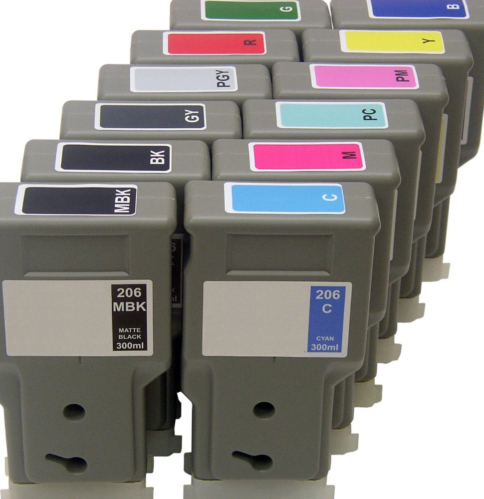 Compatible cartridges Multipack for Canon PFI-206 – 12 pack