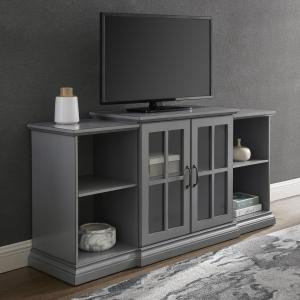 Manor Park Classic Tiered TV Stand for TVs up to 65″, Antique Grey