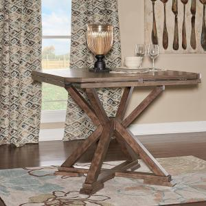 Powell Cohen Counter Table, Weathered Oak