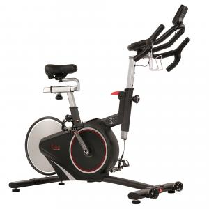 Sunny Health & Fitness Magnetic Belt Rear Drive Indoor Cycling Bike, High Weight Capacity with Cadence Sensor and Pulse Rate Monitor – SF-B1709