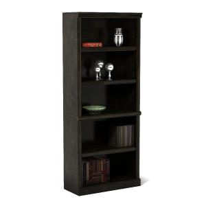 Better Homes & Gardens 71″ Ashwood Road 5 Shelf Bookcase, Black