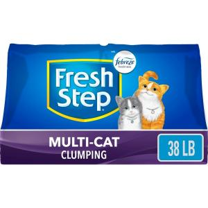 Fresh Step Multi-Cat Scented Litter with the Power of Febreze, Clumping Cat Litter, 38 lbs
