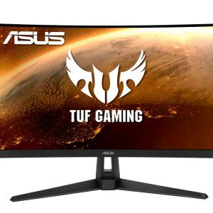 ASUS TUF Gaming VG27VH1BR 27″ Curved Monitor, 1080P Full HD, 165Hz (Supports 144Hz), Extreme Low Motion Blur, Adaptive-sync, FreeSync™ Premium, 1ms, Eye Care, HDMI D-Sub