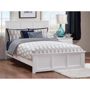 Madison Traditional Bed with Matching Foot Board in Multiple Colors and Sizes