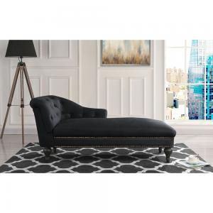 Victorian-Inspired Tufted Velvet Accent Chaise Lounge
