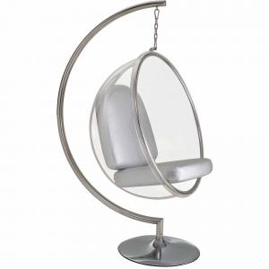 Modway Ring Lounge Acrylic Chair with Steel Rim, Multiple Colors