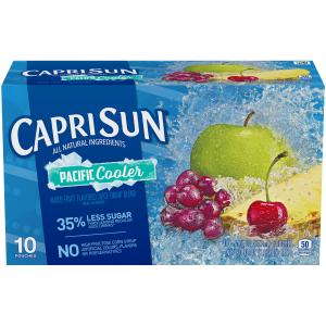 (4 Pack) Capri Sun Pacific Cooler Ready-to-Drink Soft Drink, 10 – 6 fl oz Pouches