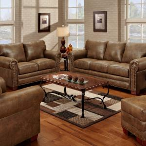 American Furniture Classics Model 8502-20 Buckskin Loveseat