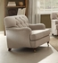 ACME Alianza Vintage Tufted Chair in Beige Upholstered Fabric