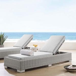 Modway Conway Sunbrella® Outdoor Patio Wicker Rattan Chaise Lounge, Multiple Colors