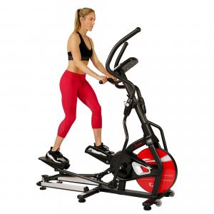 Sunny Health & Fitness Magnetic Elliptical Trainer Elliptical Machine w/ LCD Monitor and Heart Rate Monitoring – Stride Zone – SF-E3865