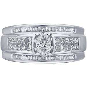 1 Carat T.w. Baguette, Princess And Marq