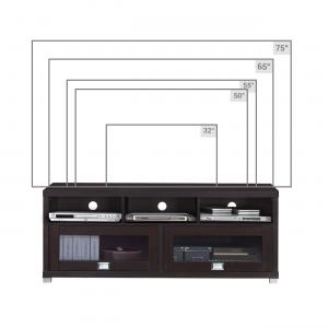 Techni Mobili 58″ Durbin TV Stand for TVs up to 75″, Espresso