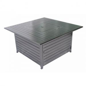 Legacy Heating Square Fire Pit Table, hammered black