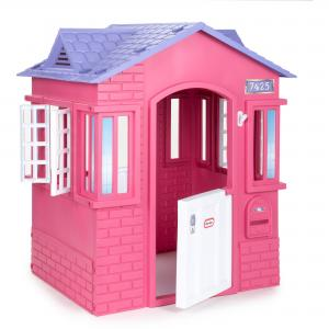 Little Tikes Cape Cottage House, Pink – Pretend Playhouse with Working Doors, Window Shutters, and Flag Holder, for Kids 2-8 Years Old